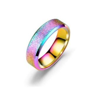 Rainbow Stainless Steel Fashion Ring *Various Size